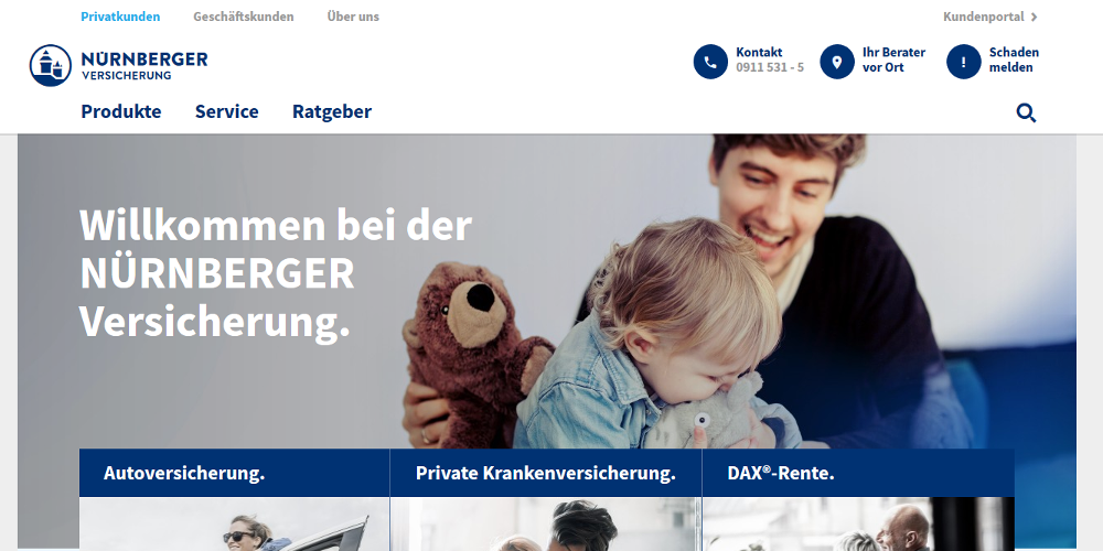 Nürnberger Versicherung Relaunch CMS FirstSpirit